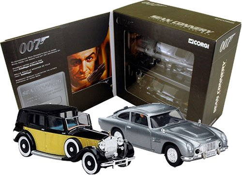Corgi James Bond Sean Connery Era Set Diecast Cars Boxed Set