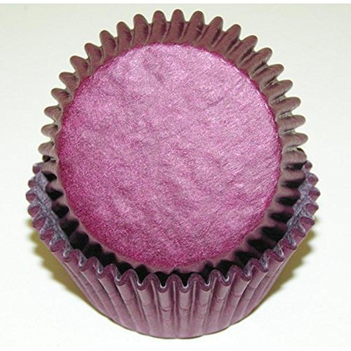 500pc Solid Burgundy Color Standard Size Cupcake Baking Cups Liners Wrappers (Solid Color Baking Cups compare prices)