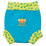 Splash About Kids Reusable Swim Happy Nappy - Bobbing Along Turquoise, XX-Large, Toddler