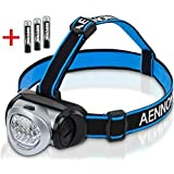 LED Head Torch Flashlight for Camping, Running, Cycling, Climbing, Reading, DIY & More! Headlamp Is Lightweight & Comfortable, Batteries Included - Makes a Great Gift