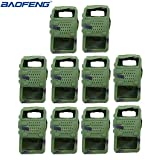 10pcs Handheld Soft Rubber Case Portable Silicone Cover Shell for Baofeng UV-5R Series Two Way Radios Walkie Talkie (Camouflage) (Color: Camouflage)