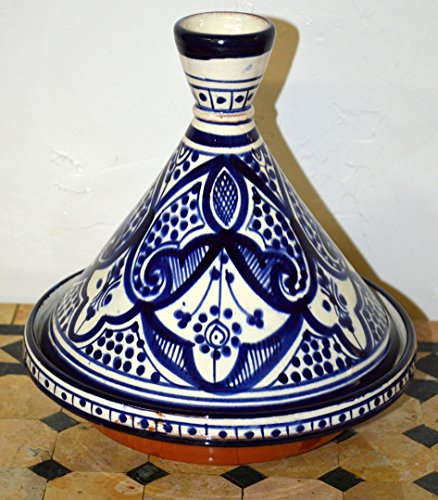 Moroccan Handmade Serving Tagine Exquisite Ceramic With Vivid colors Original