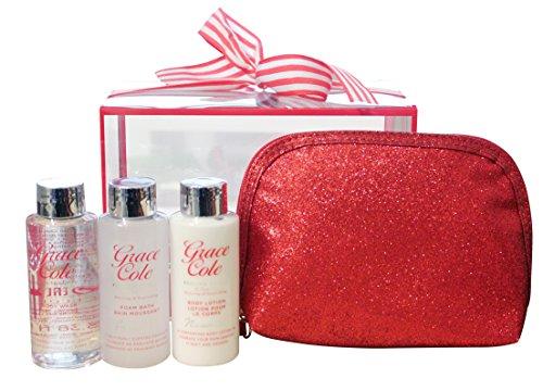 grace-cole-frosted-cherry-vanilla-4-pc-di-viaggio-treats-corpo-lavare-bagno-schiuma-lotion-puff