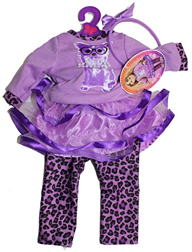 "My Life As Leopards and Frill Tutu Outfit (Fits 18"" American Dolls) - 1"