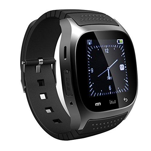 GENORTH-M26-Bluetooth-Smart-Watch-Orologio-da-polso-compatibile-con-telefoni-Android-Tutte-le-funzioni-con-Iphone-Parte-delle-funzioni-Nero
