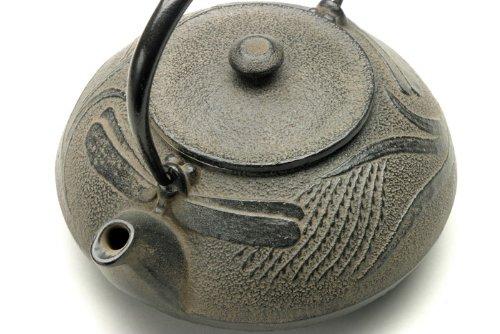 Kotobuki 480-318 Japanese Iron Tetsubin Teapot, Antique Dragonfly, Brown 1