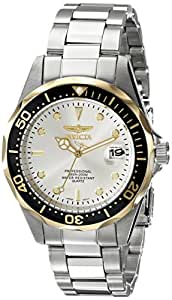 Invicta Men's 12808X Pro Diver Gold Dial Stainless Steel Watch