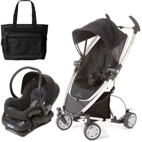Quinny CV080RKBTRV Zapp Xtra Travel system with diaper bag and car seat - Rocking Black