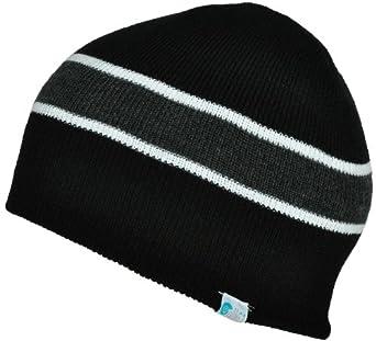 Alki'i striped mens/womens warm beanie snowboarding winter hats - Black