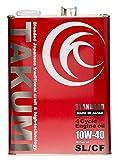 TAKUMIモーターオイル STANDARD【10W-40】エンジンオイル/ 旧車・乗用車 鉱物油(MINERAL BASE)4L 【送料無料】 ST1040-00401