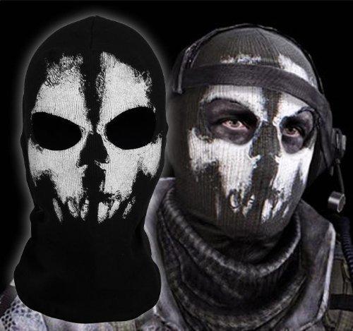 Hakkin Ghosts Skull Mask Full Face Cosplay Balaclava Paintball Outdoor Hood