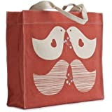 Apple & Bee Canvas Tote Bag - Red Doves