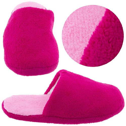 Cheap Hot Pink Slip On Slippers for Women (B0044VGF82)