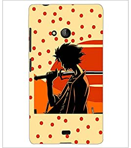 PrintDhaba Sword Girl D-5087 Back Case Cover for MICROSOFT LUMIA 540 (Multi-Coloured)
