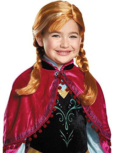 Disguise Kids Anna Frozen Girls Halloween Costume Wig
