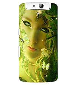 ColourCraft Fatasical Girl Design Back Case Cover for OPPO N1