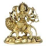 Redbag Goddess Singhwahini Maa Durga Brass Statue