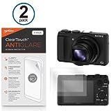 BoxWave Sony Cyber-Shot DSC-HX50V Screen Protector, [ClearTouch Anti-Glare (2-Pack)] Anti-Fingerprint Matte Film Skin for Sony Cyber-Shot DSC-HX50V