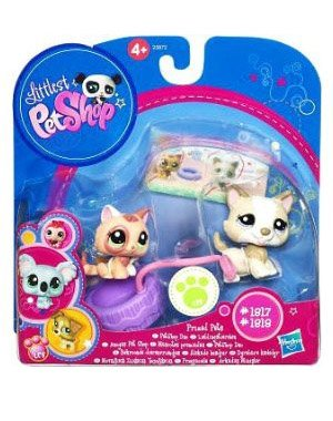 Buy Low Price Hasbro Littlest Pet Shop Prized Pet Pairs Series 1 Figures Husky Kitten (B004MUDQLO)