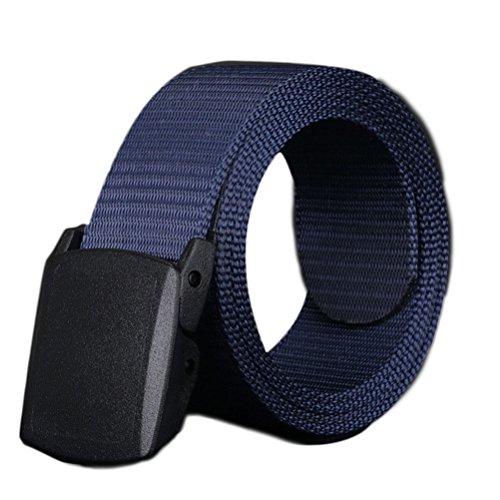 Nanxson(TM) unisex Outdoor tactics Canvas flat buckle Belt multi colors PDM0011 (royal blue) (Ax Belt compare prices)
