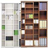 スライド本棚/CDラック Slide Shelfシリーズ 日本製 完成品 [幅104cm] (ウォールナット)