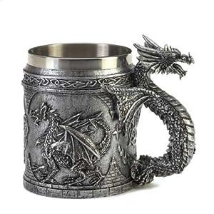 Serpentine Dragon Mug by Furniture Creations