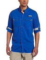 Columbia Men\'s Low Drag Offshore Long Sleeve Shirt, XX-Large, Vivid Blue