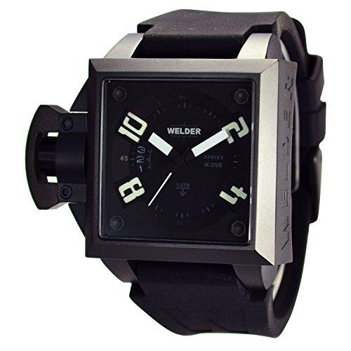 [ウェルダー]WELDER 腕時計 クオーツ デイトカレンダー ブラック×ブラックラバー K25B-4502  【並行輸入品】