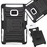 SOGA® Hybrid Armor Heavy Duty Cover Protector Case with Belt Clip Holster Kickstand for LG Optimus Logic L35G... by SoGa