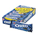 Oreo Cookies, Chocolate w/Cream Center, 6-Cookie Pack, 12 Packs/Box
