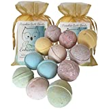 12 Enhance Me Bath Bombs, Double Paradise Gift Set- Handmade with Shea Butter and Organic Sustainable Palm Oil,