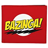 Mustard The Big Bang Theory Bazinga Mens Red Wallet