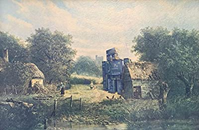 'Guardian' - Minecraft Iron Golem Parody - Altered Thrift Art by Dave Pollot - Print or Poster