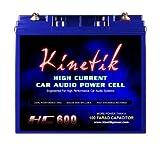 Kinetik HC600 BLU Series 600-Watt 12-Volt High Current AGM Car Audio Power Cell Battery