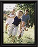 MCS 53624 8 by 10 Solid Wood Picture Frame, Black