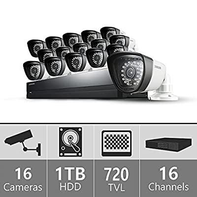 SDS-P5122NF - Samsung 16ch 960H Security Camera System 16 Cameras