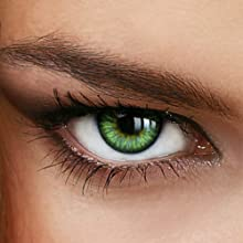 Colores Año de contacto Lentes Sunny Green-sin grosor en verde-Intensivo/muy opaco-de luxde Lux®-(+/-0.00DPT)