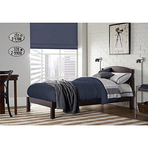 Dorel Living Braylon Bed, Twin, Espresso (Espresso Bed Twin compare prices)