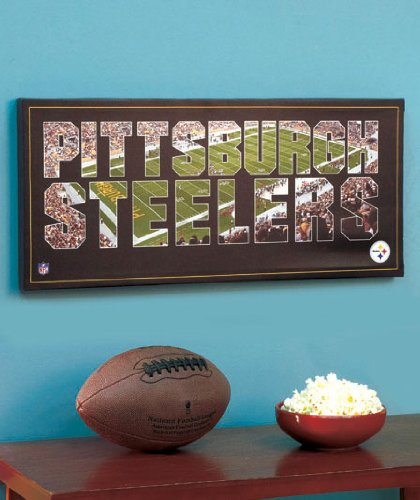 NFL Team Pride Canvas Wall Art, Pittsburgh Steelers, Stadium Background at Amazon.com