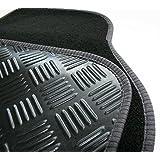 Volkswagen VW Passat Round Clips (07>) car mat set in black (Deluxe Range)
