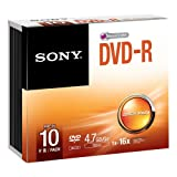 Sony 10DMR47SS 16x DVD-R 4.7GB Recordable DVD Media - 10 Pack