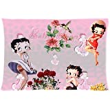 Betty Boop Pillowcase Standard Pillow Cover 20*30 inches (one side)