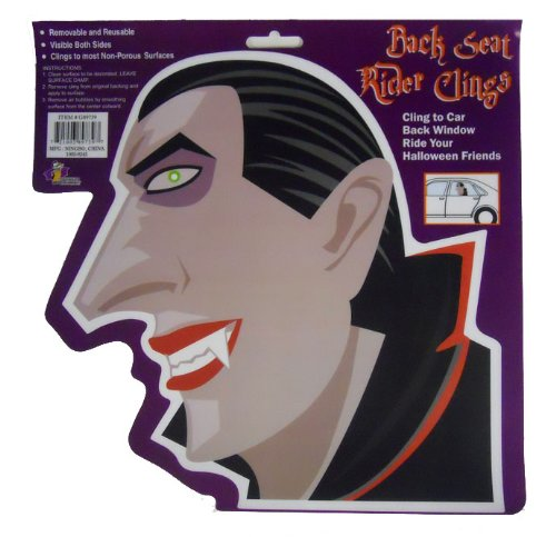 Halloween Dracula Decal - Back Seat Rider Clings