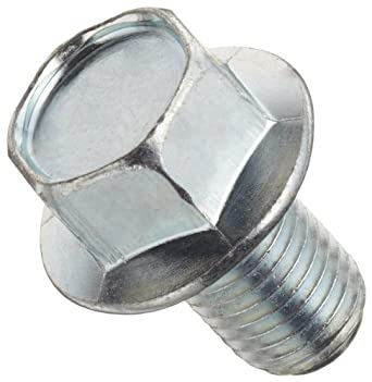 Class 10.9 Steel Cap Screw, Zinc Plated Finish, Flange Hex Head, External Hex Drive, Meets JIS B1190, Flanged, Non-Serrated, Right Hand Threads, Metric