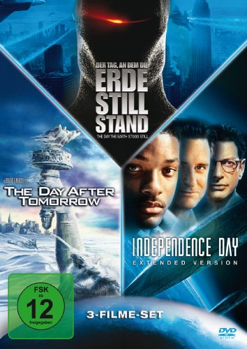 Der Tag, an dem die Erde stillstand / Independence Day, Ext. / The Day After Tomorrow [3 DVDs]