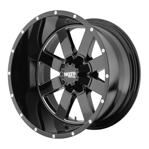 Moto Metal MO962 Gloss Black Wheel With Milled Accents (20x9