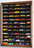 Hot Wheels Matchbox 1/64 scale Diecast Display Case Cabinet Wall Rack w/UV Protection -Walnut