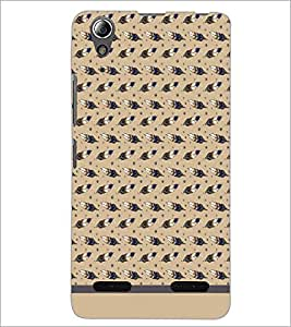 PrintDhaba Leaf Pattern D-1569 Back Case Cover for LENOVO A6000 PLUS (Multi-Coloured)