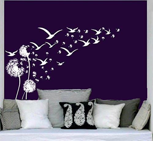 pusteblume wandtattoo vogelschwarm m wen v gel l wenzahn. Black Bedroom Furniture Sets. Home Design Ideas
