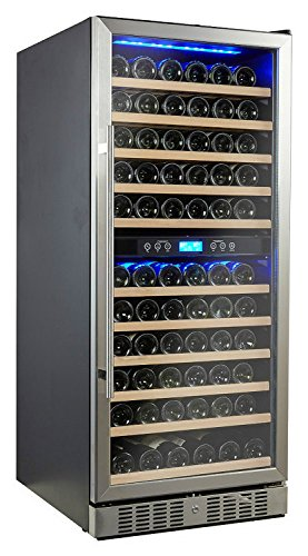 Big Save! Kalamera 117 Bottle Compressor Wine Cooler Dual Zone with Touch Control